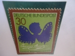 Stamps : Europe : Germany :  Clemens Brentano - Bicentenario del Nacimiento - Silueta (mariposa) de Luise Duttenhofer.