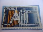 Stamps : Asia : Israel :  Equipo Atómico - Atomo - Laboratorio Atómico.