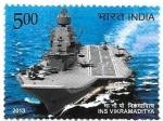 Sellos del Mundo : Asia : India : portaaviones