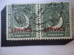 Stamps : Asia : Pakistan :  Media Luna y Esterlla - Sello Oficial.