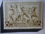 Stamps Greece -  Alejandro el Grande en la Batalla de Issos (333 a.C)- Serie: Historia Griega.