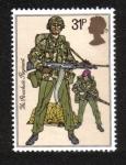 Sellos del Mundo : Europa : Reino_Unido : Uniformes del ejército británico, paracaidistas (regimiento de paracaidistas, 1983)