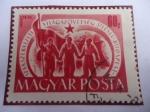 Stamps Hungary -  Congreso Sindical Mundial - Trabajadores con Bandera.