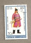 Stamps North Korea -  Caballero de la disnatía Li