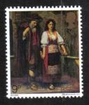 Sellos de Europa - Reino Unido -  Pinturas, 'El mendigo ciego' (W.W. Ouless)