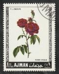 Sellos de Asia - Emiratos Árabes Unidos -  Ajman - 106 - Rosas