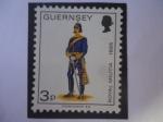 Stamps : Europe : United_Kingdom :  Oficial de Campo, Artillería de la Guerrilla Real,1895- Milicia guernsey - Dependencia de la Corona