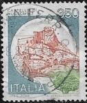 Stamps : Europe : Italy :  Castello di Mussomeli  1980  350 liras