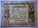 Stamps : Europe : Italy :  Proclamación de Garibaldi en Sicilia - Expedición de Garibaldi a Sicilia -  Giuseppe Garibaldi (1807