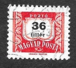 Stamps : Europe : Hungary :  J238 - Número