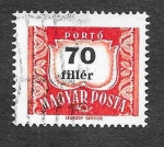 Stamps : Europe : Hungary :  J242 - Número