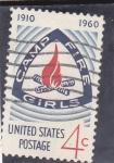 Stamps : America : United_States :  Emblema de Camp Fire Girls