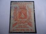 Stamps : America : El_Salvador :  1854-1954, Nueva San Salvador - 100 Años de la Ciudad Nueva San Salvador - Escudo de Armas.