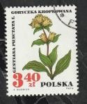 Stamps : Europe : Poland :  1627 - Flor, Gentiana Punctata L.