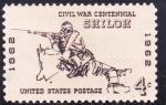 Stamps : America : United_States :  CENTENARIO BATALLA DE SHILOH
