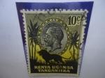 Stamps : Africa : Uganda :  África Oriental Británica-Kenya-Uganda-Tanzania- Serie: George V -León Africano.
