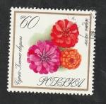 Stamps : Europe : Poland :  1550 - Flor de jardín, Zinnia
