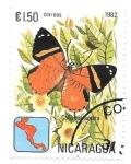 Sellos del Mundo : America : Nicaragua : mariposas