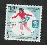 Stamps : Asia : Yemen :  197 - Olimpiadas de invierno Grenoble 1968