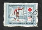 Sellos de Asia - Mongolia -  596 - Olimpiadas de invierno Sapporo 1972, esquí de fondo