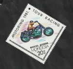 Stamps : Asia : Mongolia :  1098 - Motociclismo