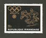 Sellos de Africa - Rwanda -  INTERCAMBIO