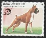 Stamps : America : Cuba :  3190 - Boxer, perro de raza