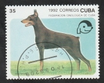 Stamps : America : Cuba :  3194 - Doberman, perro de raza