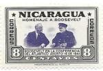 Sellos del Mundo : America : Nicaragua : Homenaje a Roosevelt