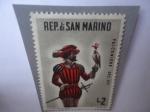 de Europa - San Marino -  Alconero del Siglo XVI - Escena de Caza - Rep. de San Marino.