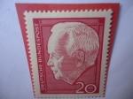 de Europa - Alemania -  Dr. H.C. Heinrich Lübke (1894-1972)-2do. Presidente Federal- Reelección Presidente Heinrich
