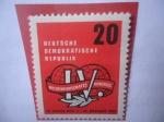 de Europa - Alemania -  Alemania, Rep. Democrática - Congreso Laboral, en Leipzig del 4-15 Oct. 1957.