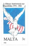 Stamps : Europe : Malta :  aves