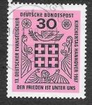 de Europa - Alemania -  972 - XIII Encuentros de Protestantes Alemanes