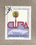 Stamps Hungary -  Festival de la juventud en Cuba