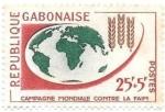 Sellos del Mundo : Africa : Gabón :  campaña contra el hambre