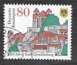 sello : Europa : Alemania : 1873 - 1000 Aniversario de la Ciudad de Quedlinburg