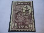 Stamps Malaysia -  Estados Malayos- Serie:Penang-Malacia Británica 1922-Colonias del Estrecho.