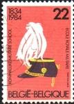 Sellos del Mundo : Europa : Bélgica : 150th  ANIVERSARIO  DE  LA  ESCUELA  MILITAR  REAL  Scott 1173.