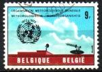 Sellos del Mundo : Europa : Bélgica : 100th  DEL  INSTITUTO  INTERNACIONAL  DE  METEREOLÓGICO  DE  UKKEL.  Scott 836.