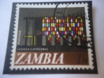 Stamps : Africa : Zambia :  Cathedral in Lusaka - Serie: Nueva Moneda Decimal