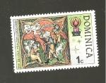 de America - Dominica -  INTERCAMBIO