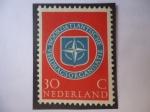 de Europa - Holanda -  Países Bajos - - O.T.A.N. Emblema - 10 Aniversario de la O.T.A.N.