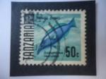 de Africa - Tanzania -  Tangu Domo (Gomphosus caeruleus) - Boca de Pájaro Verde - Serie: Pez 1967