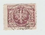 Stamps : Europe : Poland :  Aguila,