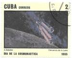 Sellos de America - Cuba -  día de la cosmonaútica