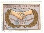 de America - El Salvador -  año internacional cooperación