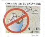 Sellos del Mundo : America : El_Salvador : no a las drogas
