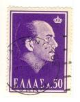 Sellos de Europa - Grecia -  Rei Pablo I de Grecia