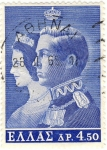 Stamps Greece -  Rei y Reina